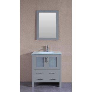 30 Single Bathroom Vanity Set with Mirror by Bosconi