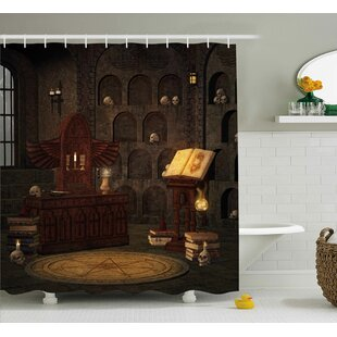 Read Reviews Gothic Magicians with Skulls Shower Curtain By The Holiday Aisle