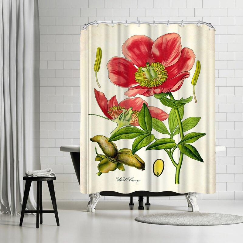 Adams Ale Peony Shower Curtain
