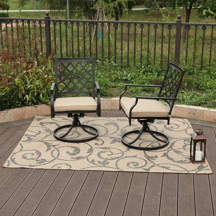 Swell Peery Outdoor Swivel Patio Chair With Cushions Creativecarmelina Interior Chair Design Creativecarmelinacom