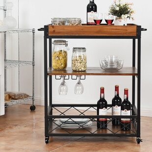 Valentin 3 Tier Rolling Kitchen Cart Williston Forge