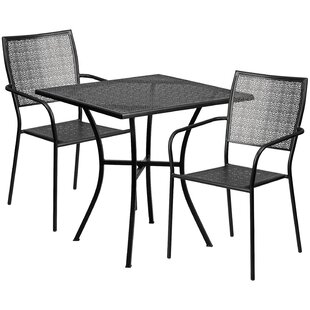 Wafer 3 Piece Bistro Set