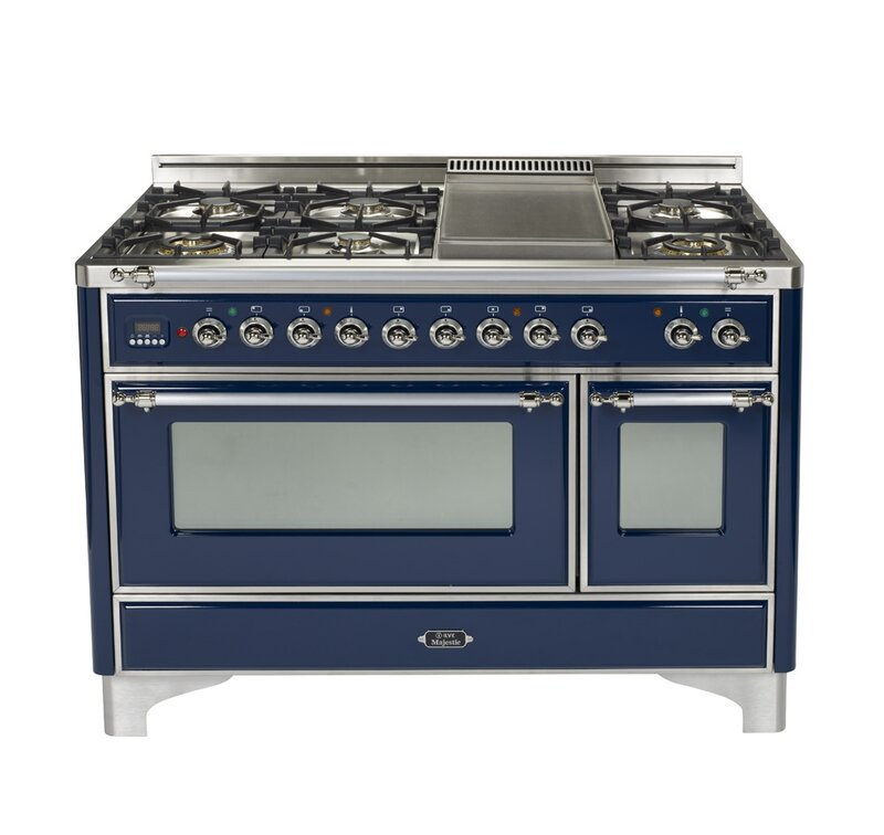 "Majestic 48"" Free-standing Dual Fuel Range with Griddle"