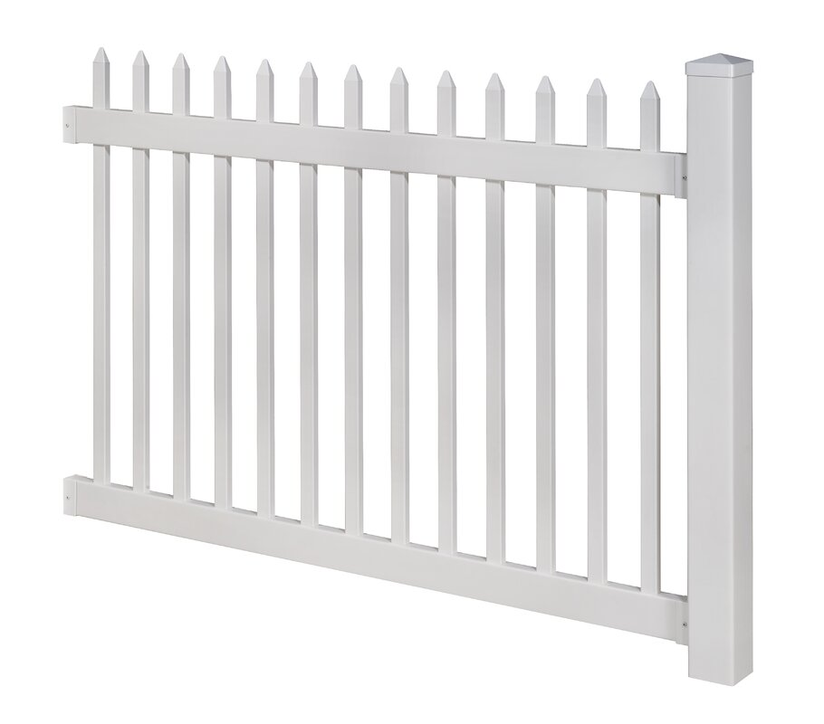 Wam Bam No-Dig Fence Nantucket Vinyl Picket Fence with Post and Pipe ...