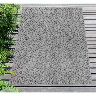 Osman Leopard Gray Indoor/Outdoor Area Rug