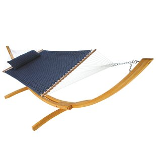Latitude Run Laffey Large Soft Weave Double Tree Hammock