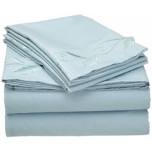 Cathay Home, Inc Microfiber Embroidered Sheet Set