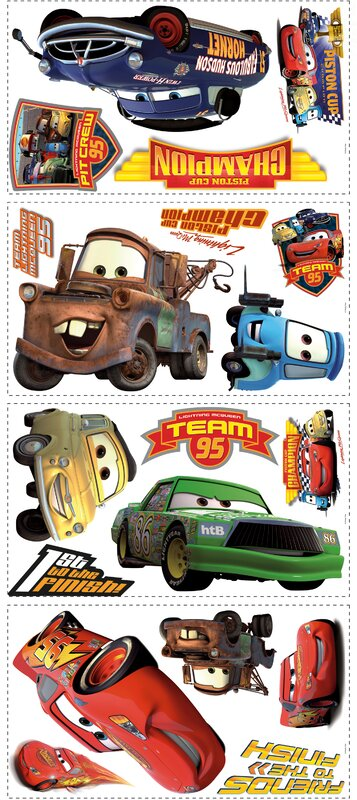 19 Piece Disney Pixar Cars Piston Cup Champs Wall Decal Set Part 91