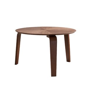 Escamilla Mid-Century Solid Wood Dining Table