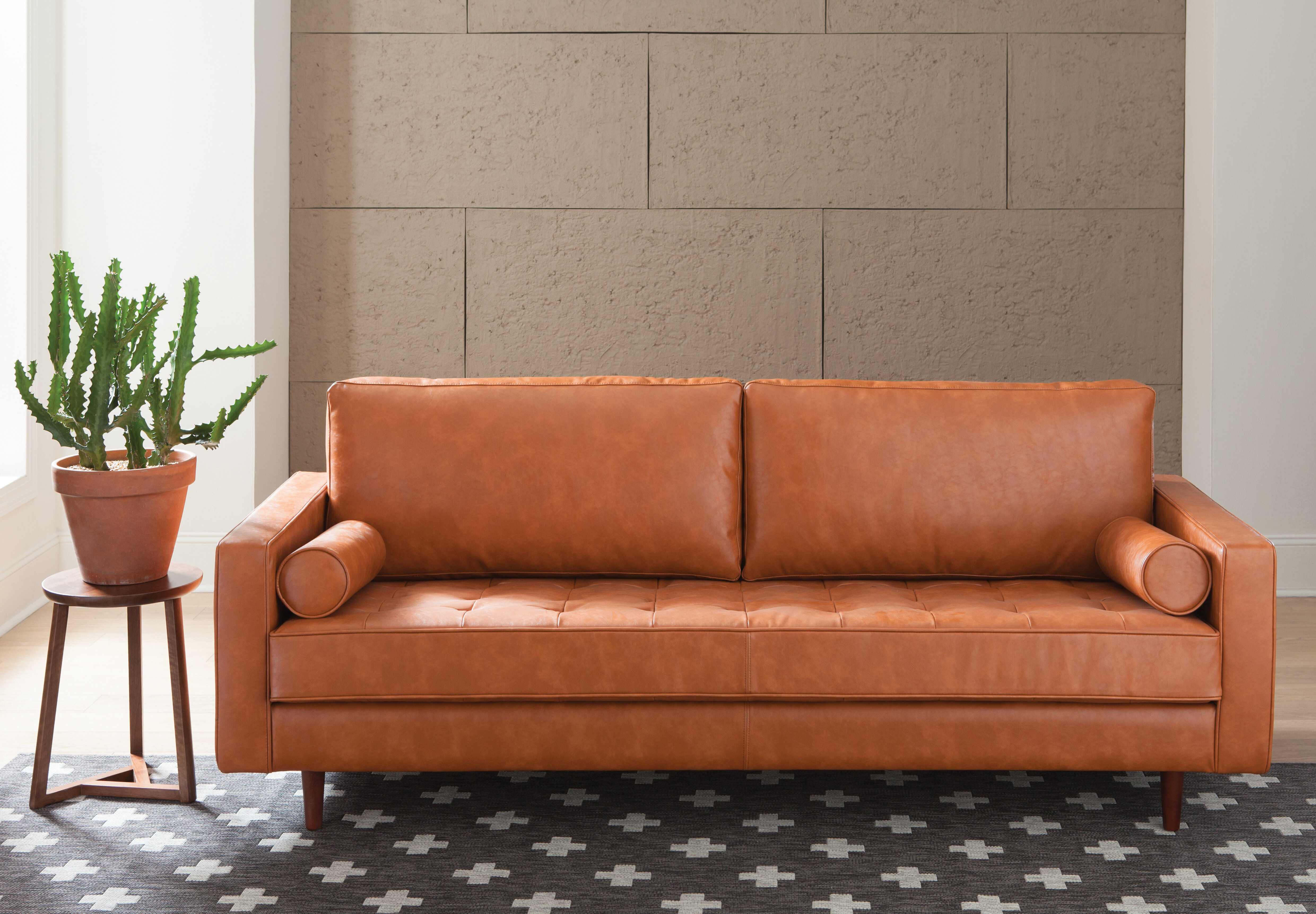 Trent Austin Design Bombay Leather Sofa U0026 Reviews | Wayfair