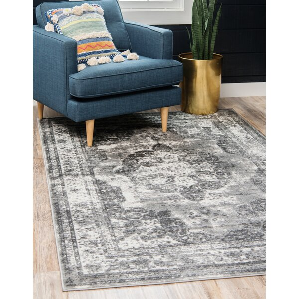 Brandt Dark Gray Area Rug by Joss & Main
