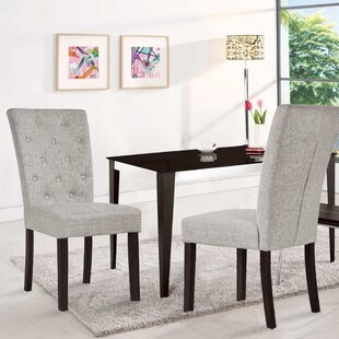 Ammons Upholstered Dining Chair Set of 2 by August Grove