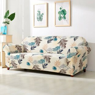 Leaves Printed Stretch Loveseat Slipcover