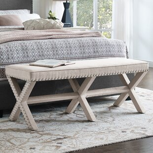 Wynwood X Base Upholstered Bench by Darby Home Co