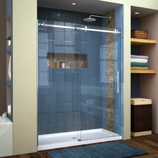 Enigma Air 60 x 76 Single Sliding Frameless Shower Door with Clearmax™ Technology ByDreamLine