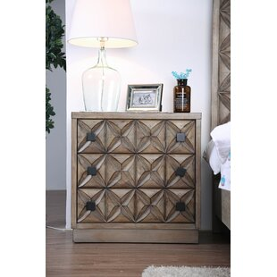 Backes Transitional Wood 3 Drawer Nightstand by Foundry Select