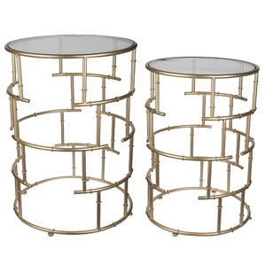 Whalley 2 Piece End Table Set by House of Hampton