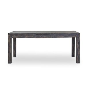 Naber Extendable Solid Wood Dining Table Loon Peak