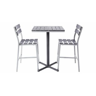 Milloy 3 Piece Bar Height Dining Set
