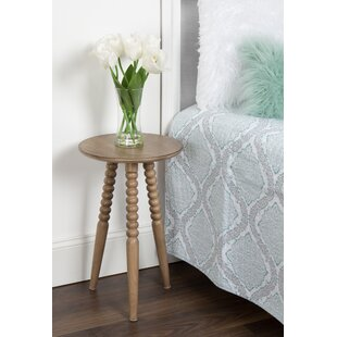 Martha Solid Wood Bobbin Leg End Table