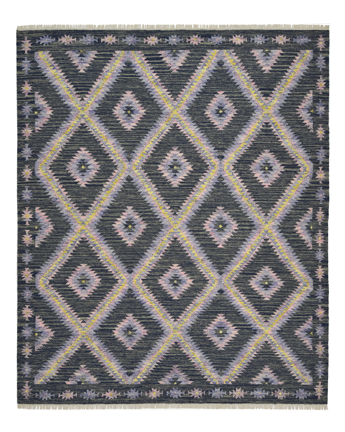 Solo Rugs One Of A Kind Hand Knotted New Age Modern Gray Yellow Pink 8 X 10 Wool Area Rug Wayfair