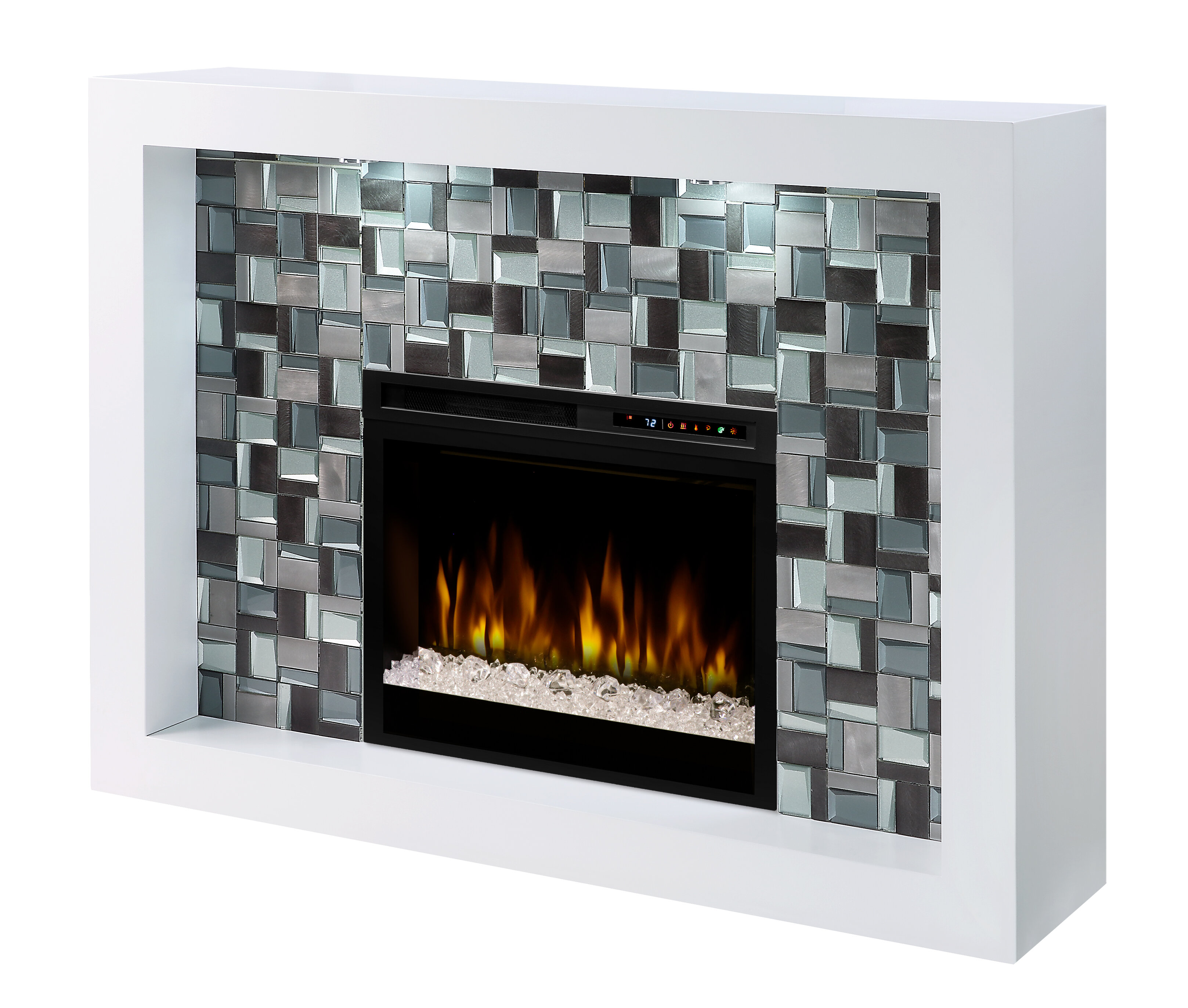 Longshore Tides Carballo Recessed Electric Fireplace Wayfair