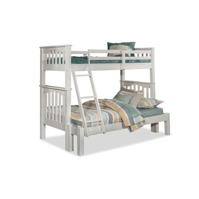 Greyleigh Bedlington Twin over Full Bunk Bed Size: Twin over Full, Bed Frame Color: White