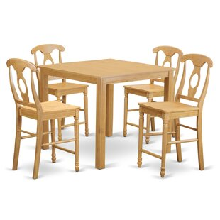 Cafe 5 Piece Counter Height Pub Table Set by East West Furniture #2