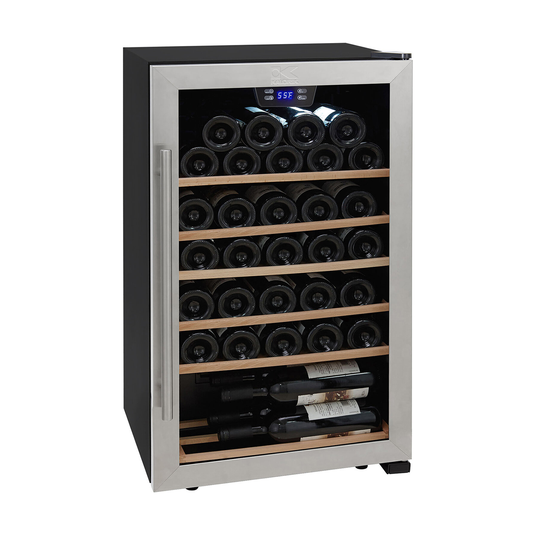 Kalorik 33 Bottle Single Zone Freestanding Wine Refrigerator Reviews Wayfair