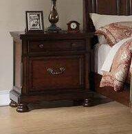 Astoria Grand Rockland Pine Wood 1 Drawer Nightstand