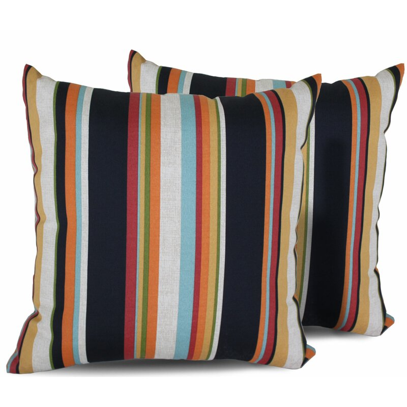 Tk Classics Villa Indoor Outdoor Striped Throw Pillow Reviews Wayfair