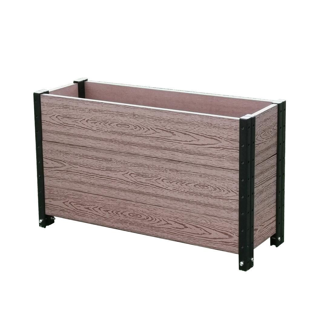 Image of: Latitude Run Manufactured Wood Planter Box Wayfair