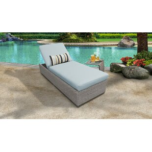 Meeks Outdoor Chaise Lounge Set with Cushion and Table