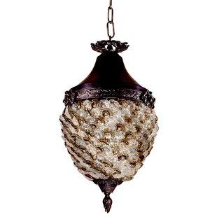 Astoria Grand Patterson Glass Flower Hang..