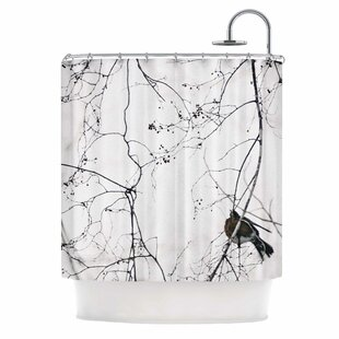 Vintage Bird At Dusk by Qing Ji Single Shower Curtain