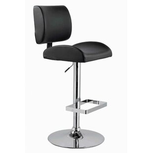 Ceto Adjustable Height Swivel Bar Stool by Orren Ellis