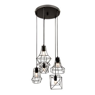 Rowena Iron 5-Light Cluster Pendant by 17 Stories