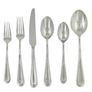 Corrie 42 Piece Stainless Flatware Set, Service for 8