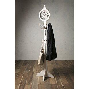 One Allium Way Clock Coat Rack