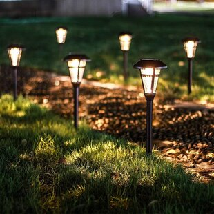 Bronze Solar Powered Integrated LED Pathway Light Pack (Set of 6)