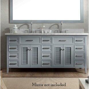Hamil Modern 73 Double Bathroom Vanity Set ByHighland Dunes