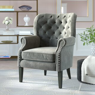 Anamaria Wingback Chair by Mercer41 SKU:ED936985 Purchase