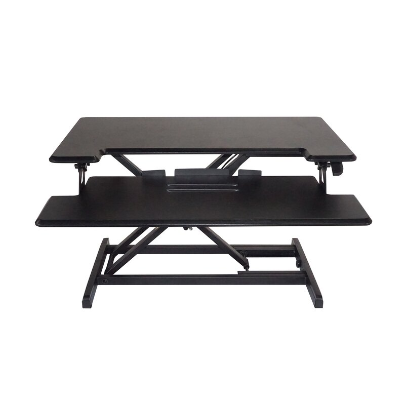 Symple Stuff Brant Compact Height Adjustable Standing Desk With