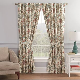Waverly Fabric Curtains Pair Panels Drapes Cottage Crewel 56W x 61 L Each Panel Lined Pleated Home Decor Birthday Gift Vintage