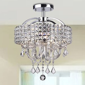 Lupe 4-Light Semi Flush Mount
