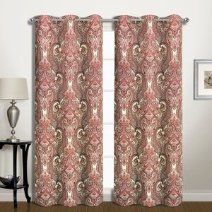 Southwood Paisley Blackout Thermal Grommet Panel Pair (Set of 2)