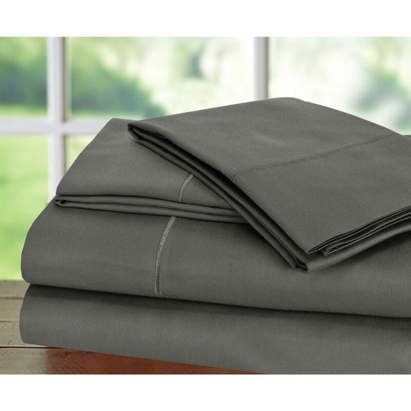 Luxury-USA Bedding All Item /& Size Plain 100/% Pima Cotton 1000 TC  Dark Grey