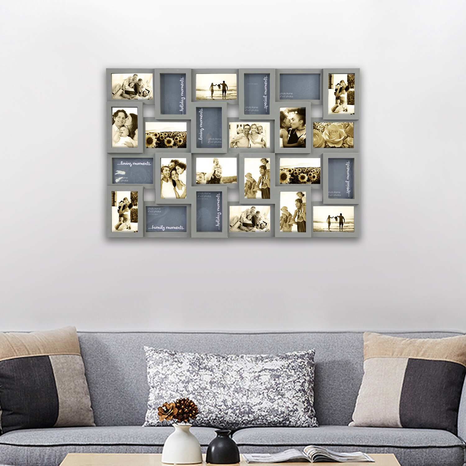 Harriet Bee Ehlers Decorative Family Collage Wall Hanging Picture Frame Reviews Wayfair Ca