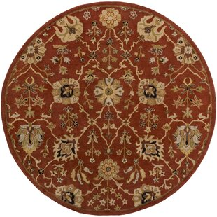 Shop For Dutil Hand-Tufted Crimson/Beige Area Rug By Charlton Home