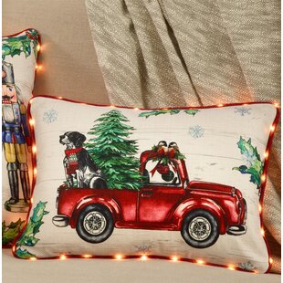 losh red truck led light pillow cover only